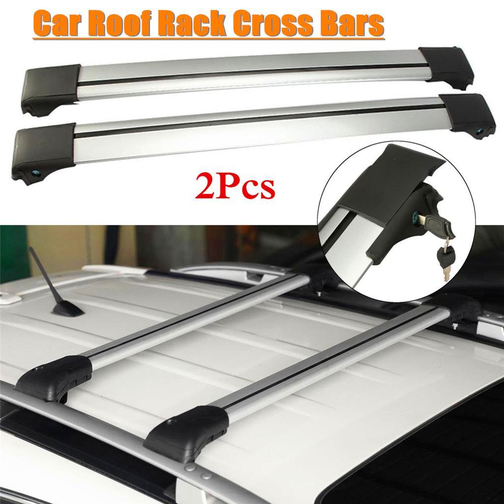 pair 93 99cm aluminum top rail roof rack car cross bars crossbar kayak carrier