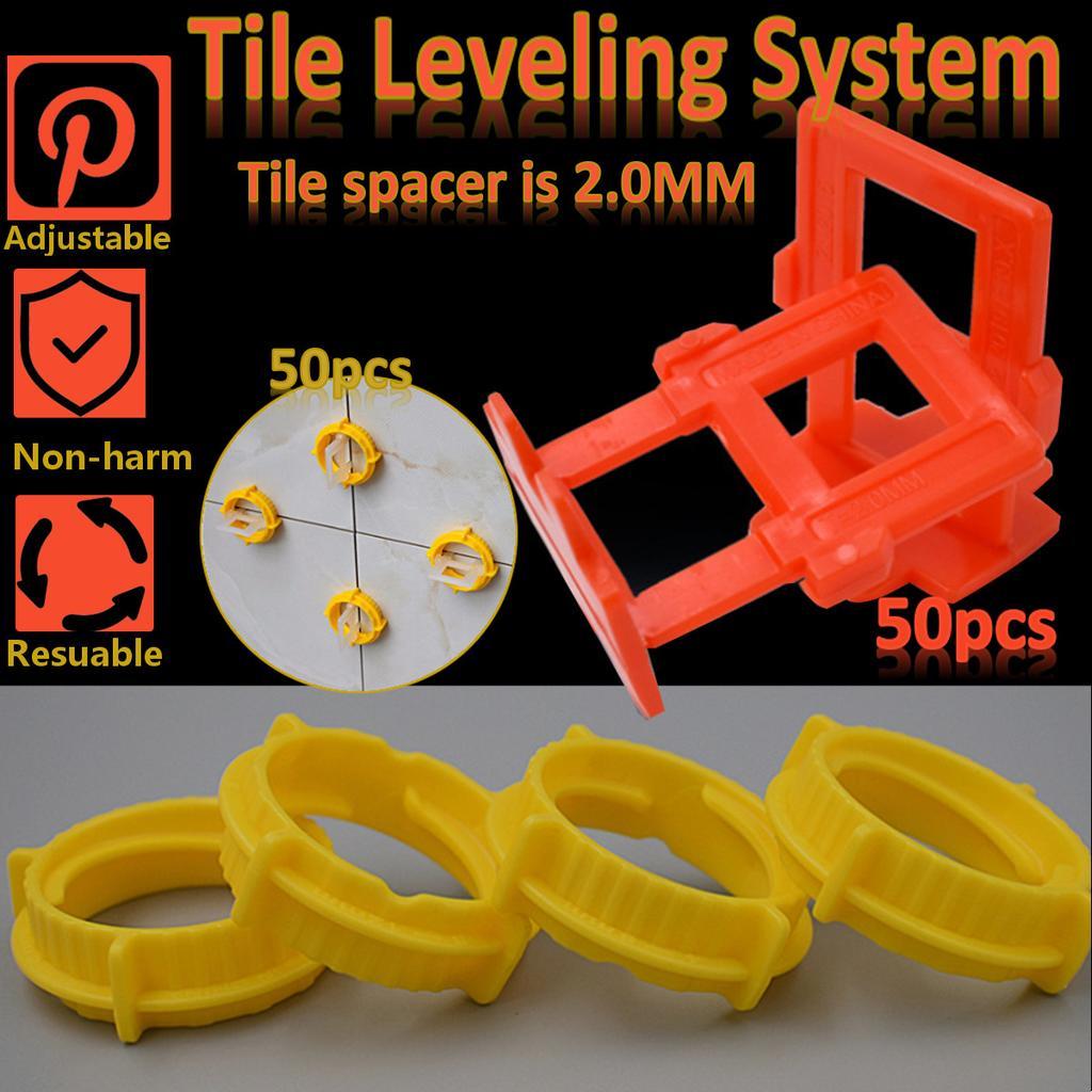 100pcs 2mm tile leveling system kit screw cap base plastic spacers leveler tools buy at a low prices on joom e commerce platform