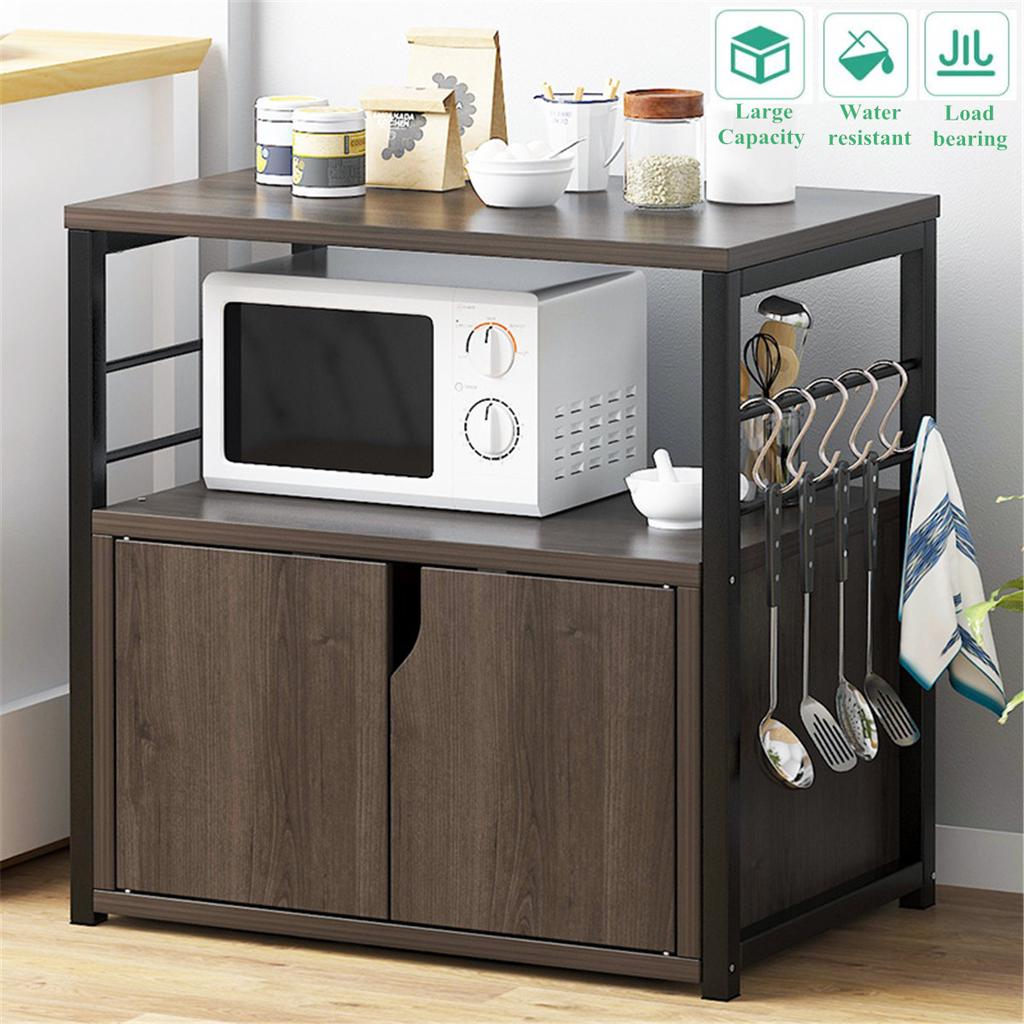 kitchen organizer dishes rack shelf multi storage floor standing space save oven stand with drawer