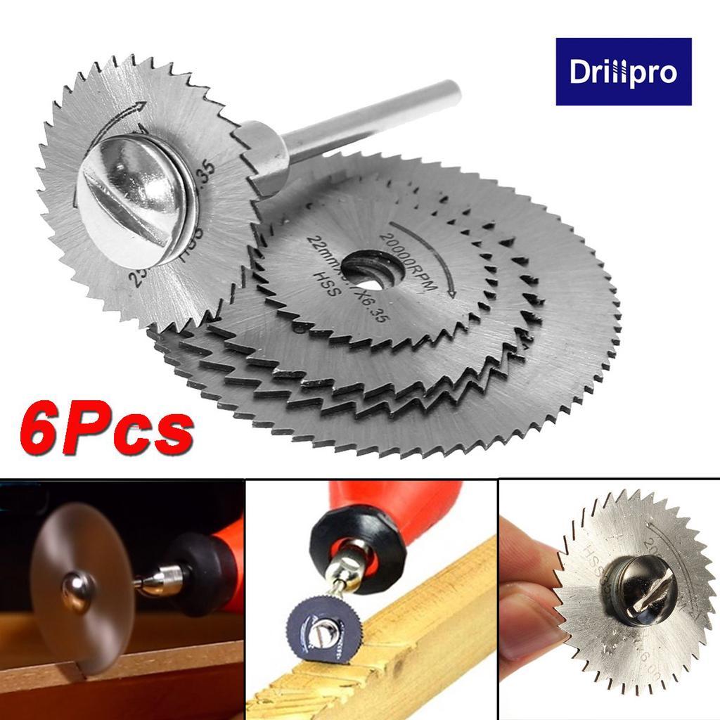 6pcs hss saw blades for metal dremel rotary tool cutting discs wheel 1 mandrel