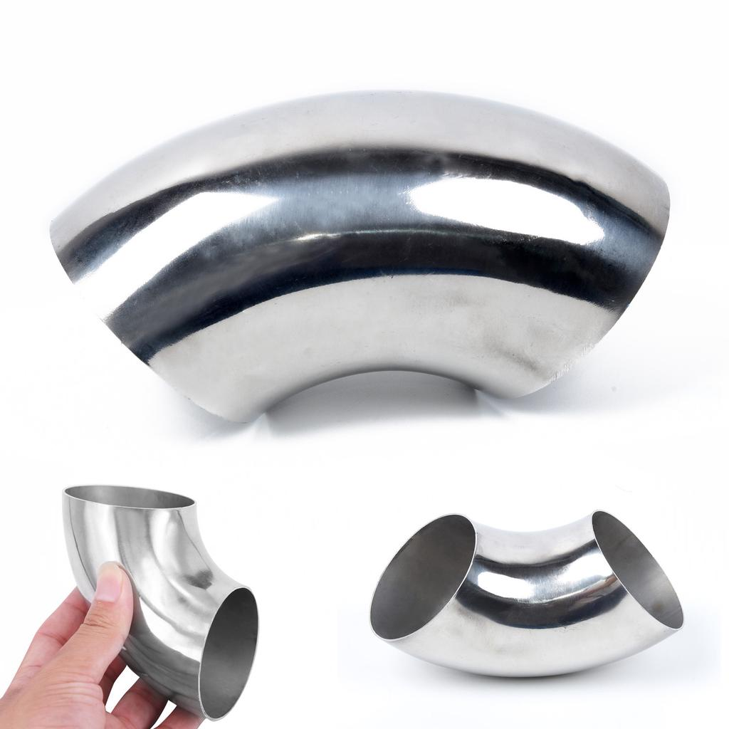 car exhaust 63mm stainless steel elbow 90 pipe tube bend mandrel fitting