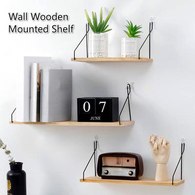 2 Patterns Household Floating Shelves Wall Mounted Wood Storage Shelves For Bedroom Living Room Buy At A Low Prices On Joom E Commerce Platform