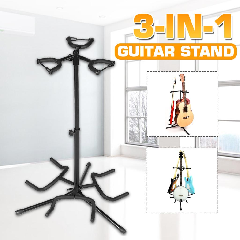 3 multi instrument acoustic electric bass guitar iron stand storage rack with cotton protection head buy at a low prices on joom e commerce platform