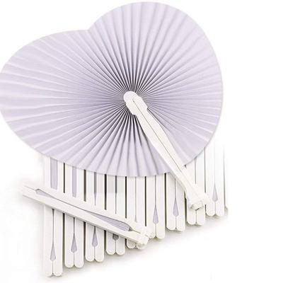 36 Pcs White Wedding Fan Fans For