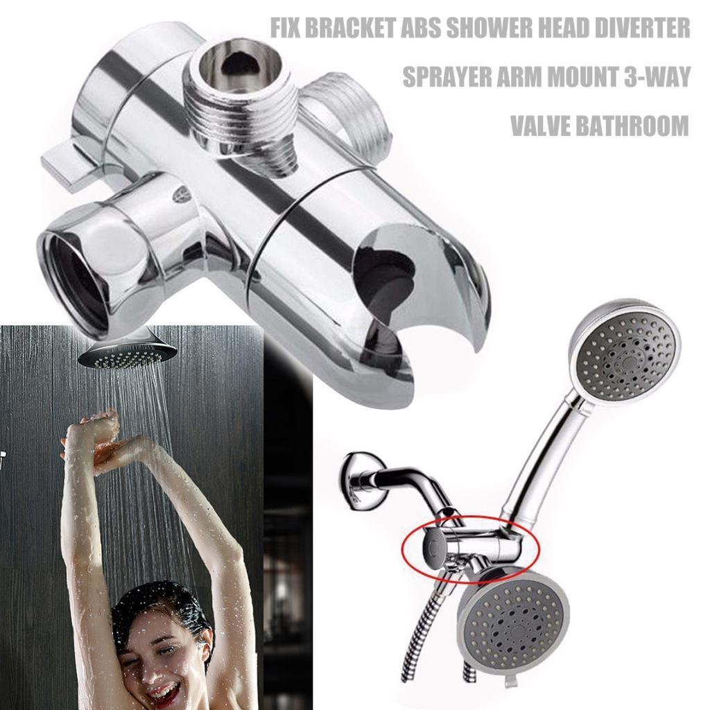 Pdto Fix Bracket Abs Bathroom Shower Head Diverter Sprayer Arm Mount 3 Way Valve Buy At A Low Prices On Joom E Commerce Platform