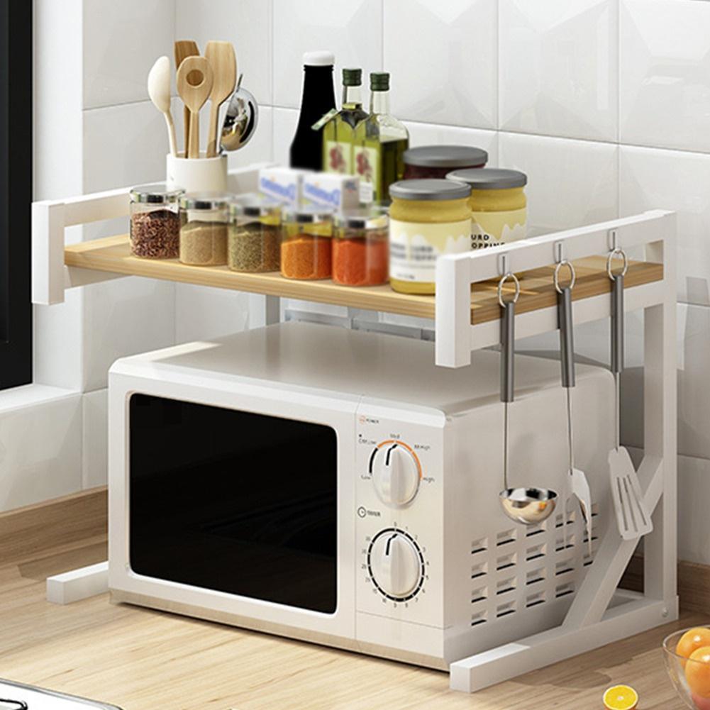 microwave oven rack multi usage home storage shelf kitchen organizer tableware