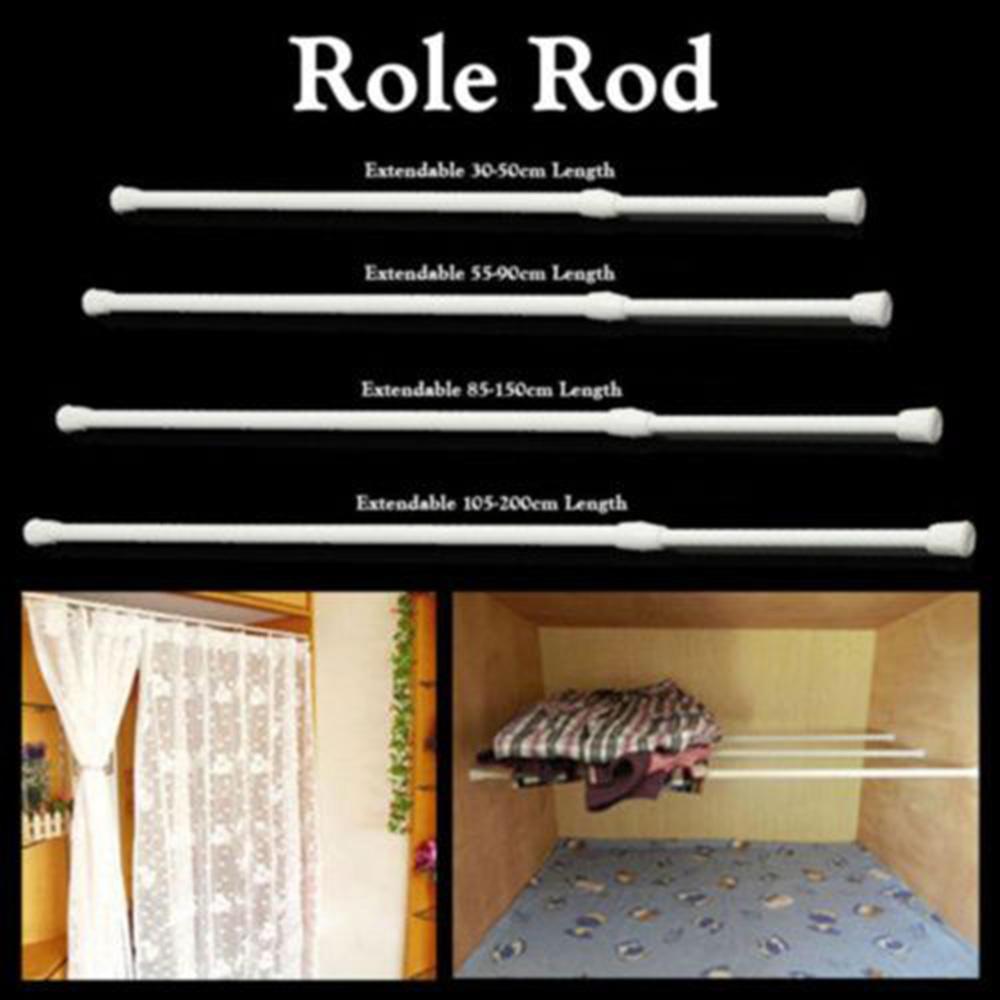 extendable curtain rods tension pole voile hot rail