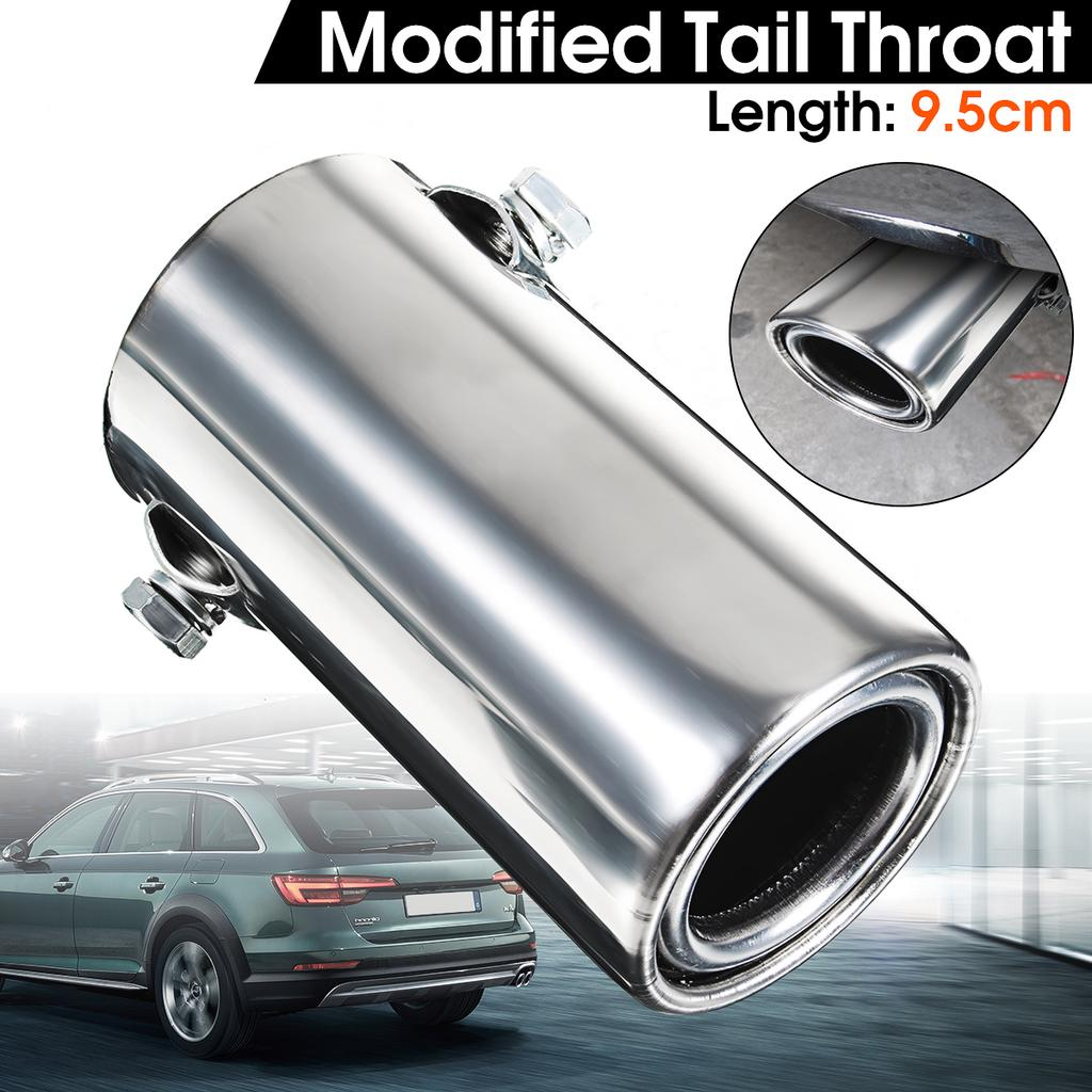 universal car exhaust muffler pipe chrome stainless steel rear tail throat liner accessories