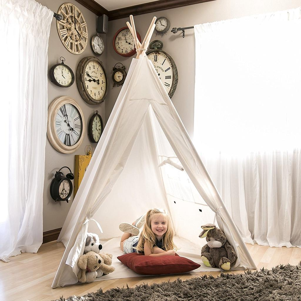 Portable Children S Tents Tipi Play House Kids Cotton Canvas Tent Child Teepee Room Decoration Buy At A Low Prices On Joom E Commerce Platform