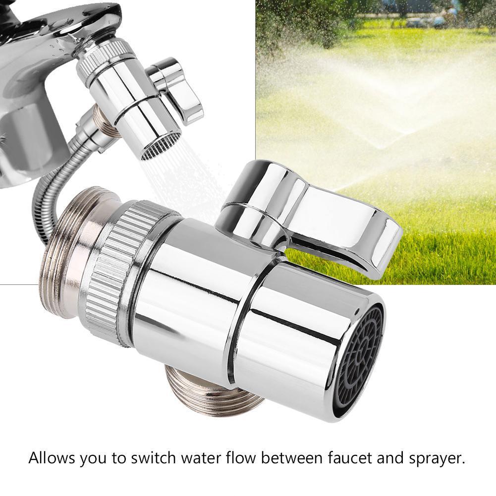 bathroom kitchen basin sink faucet splitter diverter valve to hose adapter m24