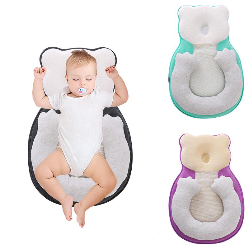 baby anti roll pillow prevent flat head toddler sleep positioner cushion infant crib cradle cot nest buy at a low prices on joom e commerce platform