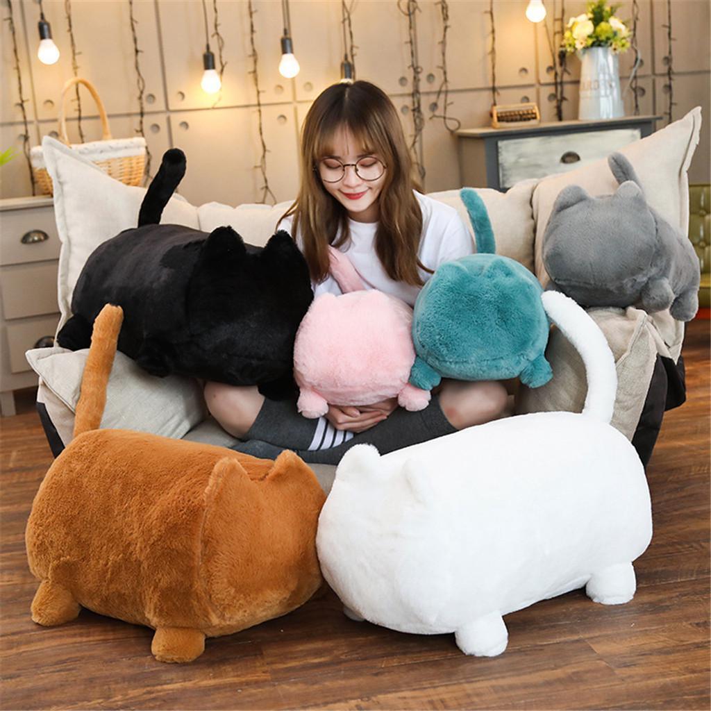 cute soft cat shaped sofa plush pillows