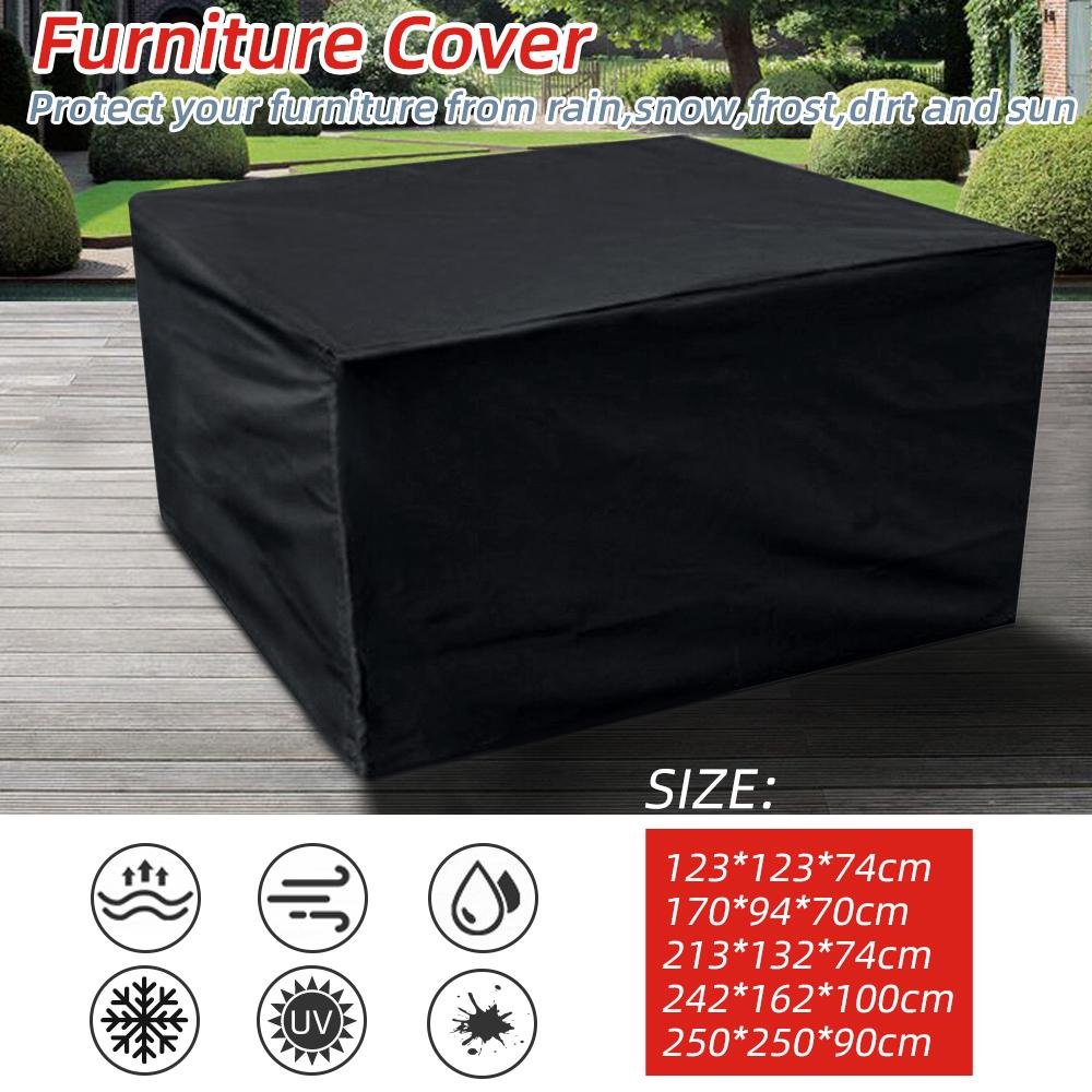 black waterproof dust proof garden patio furniture cover rectangular outdoor table cover buy at a low prices on joom e commerce platform