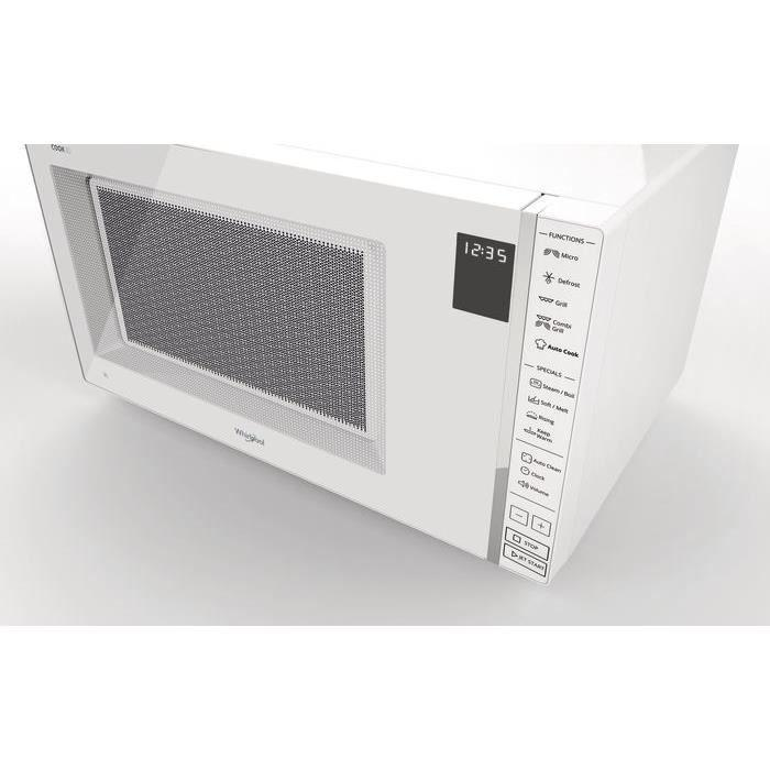 whirlpool mwp304w microwave microwave grill steamer cook30 white 30l