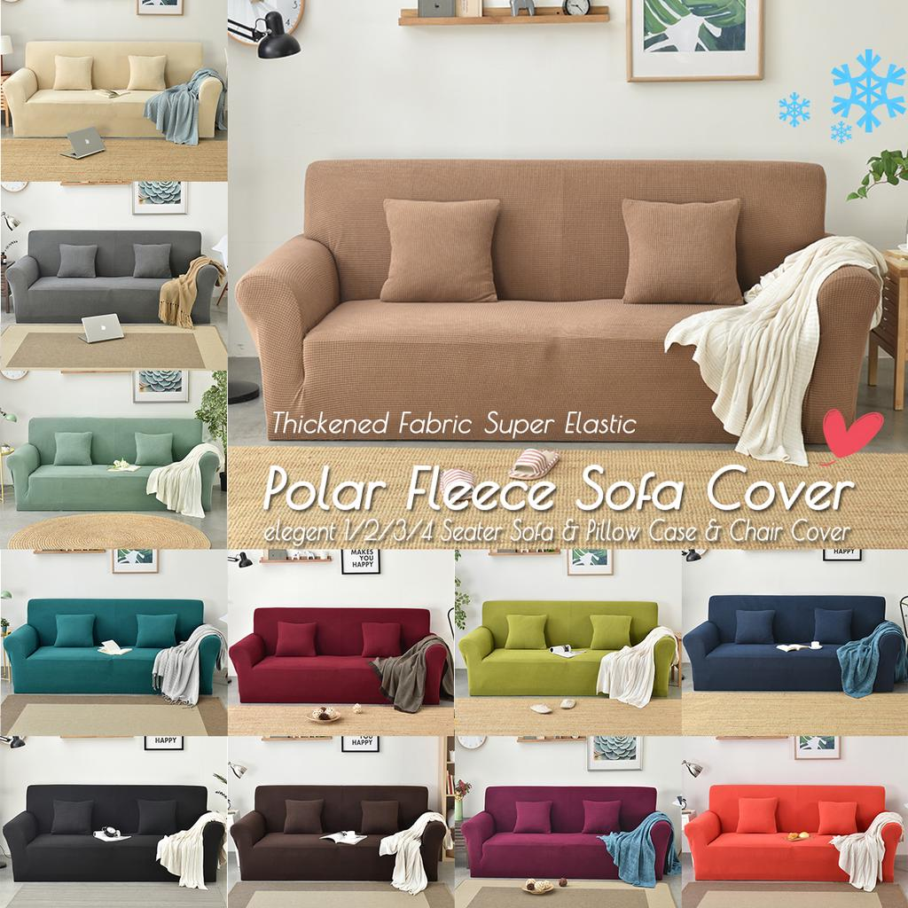 winter 1 2 3 4 seater elastic stretch sofa cover case thicken spandex couch polar