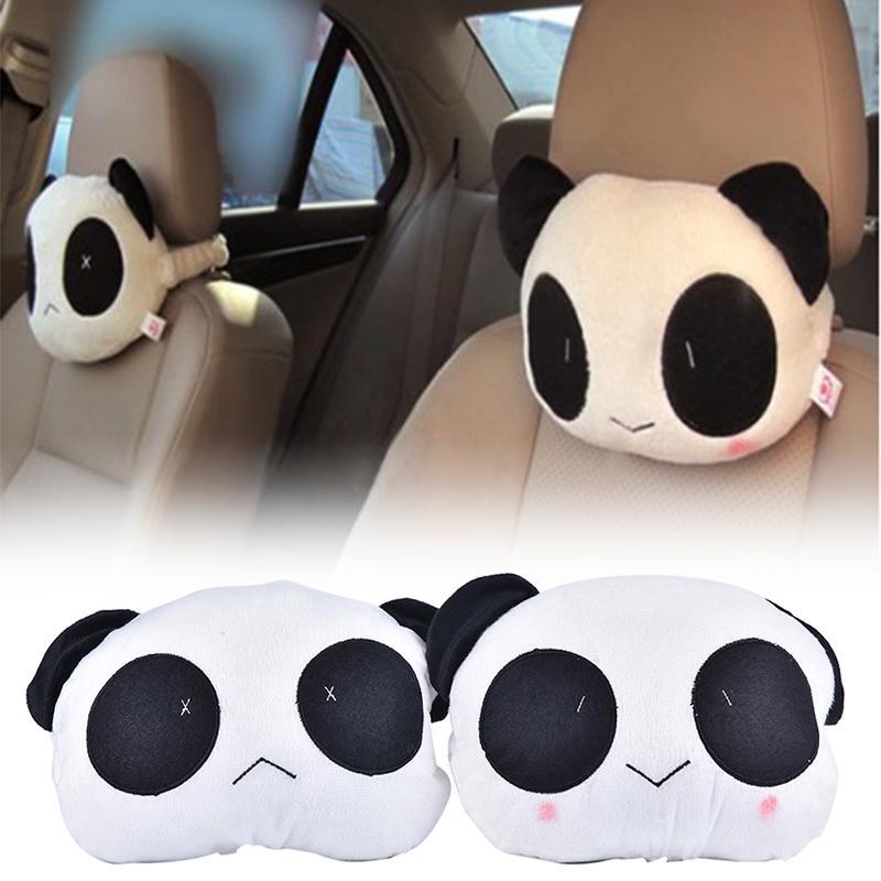 1pc cute car neck panda pillow headrest neck rest support cushion neck pillow buy at a low prices on joom e commerce platform