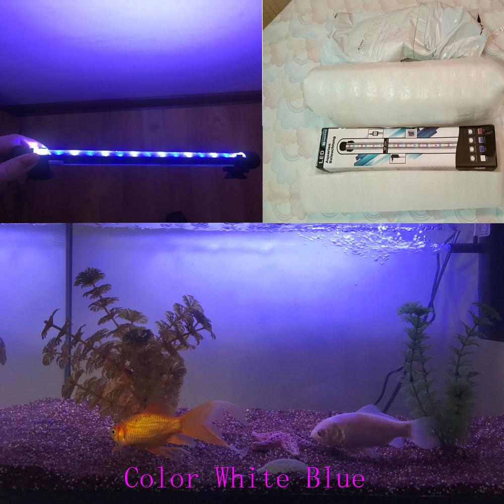 New Aquarium Fish Tank Led Light Blue White 18 28 38 48cm Waterproof Clip Lamp With Us Uk Au Eu Plug Buy At A Low Prices On Joom E Commerce Platform