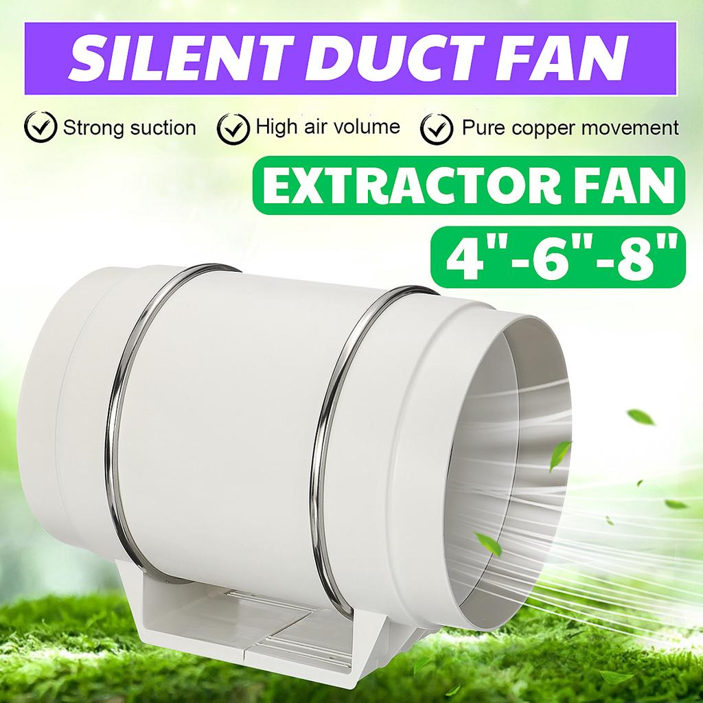 silent inline duct fan exhaust fan hydroponic air blower for home bath vent 220v buy at a low prices on joom e commerce platform