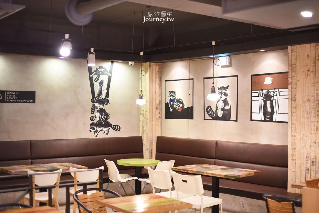韓國,釜山,咖啡廳,浣熊咖啡廳,RACOONAMATATA