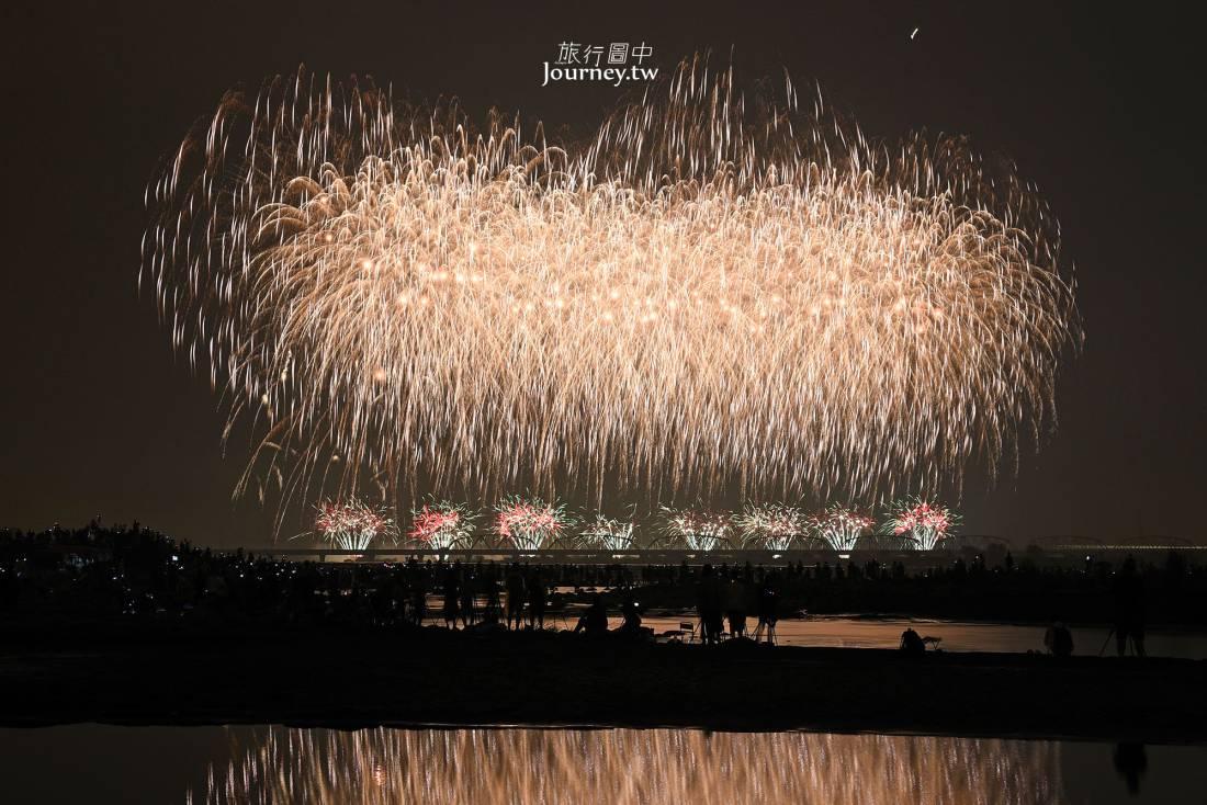 國慶煙火,屏東,2019,高屏溪,舊鐵橋濕地公園,大樹區,屏東市