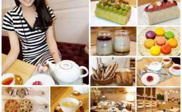 [品茶。甜點] 樂沐新品牌 Choux Choux Atelier 舒舒法式手作坊 咖啡 法式蛋糕 馬卡龍 貴婦下午茶。法國頂級時尚茶品牌KUSMI TEA (巴黎必買伴手禮) ♥ JoyceWu。食記