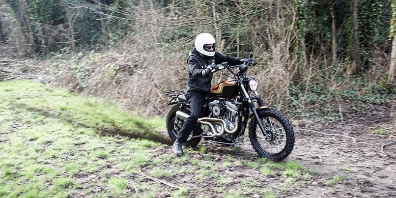 Burly Brand S Jackrabbit Motorcycle On