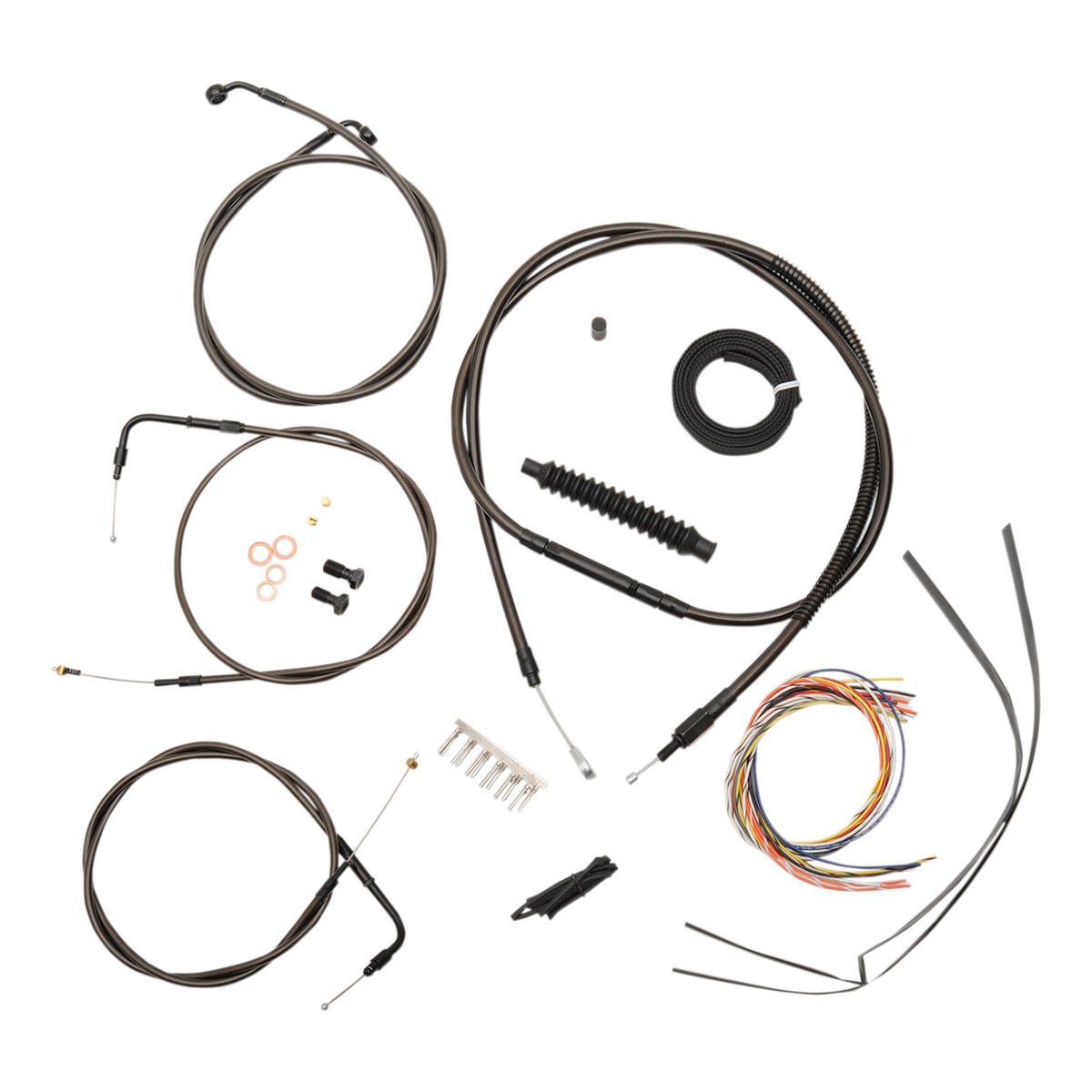 La Choppers Midnight Complete Cable Line Wiring Handlebar Kit For 12 14 Bars On Models Without