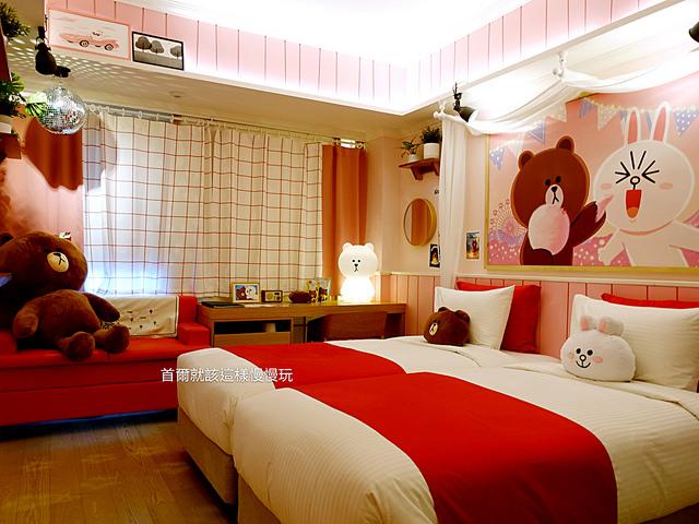 【韓國首爾住宿】黃金鬱金香M飯店Golden Tulip M Hotel\LINE Friends主題房!熊大、兔兔陪你睡,萌度爆表!