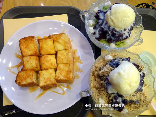 【韓國必吃】嘖嘖稱奇美食:TOM N TOMS COFFEE抹茶紅豆牛奶冰+蜜糖土司~比黯然銷魂飯還銷魂啊!