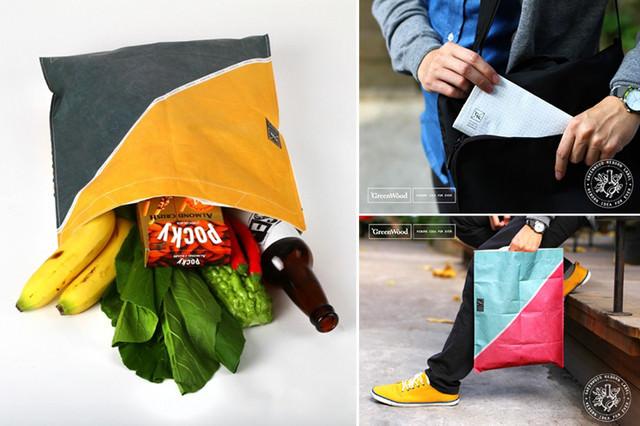 【實用創意設計】:GreenWood環保購物袋/防水防撕摺疊卡片袋!超酷的文創,你買了嗎?(文末贈獎)
