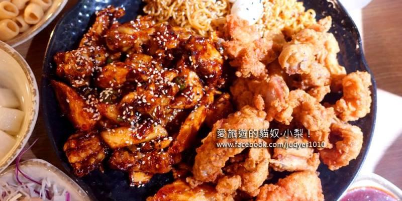 【釜山美食】咕咕炭火烤雞,炭烤甜辣雞+香脆炸雞拼盤加拉麵,消夜最佳良伴!