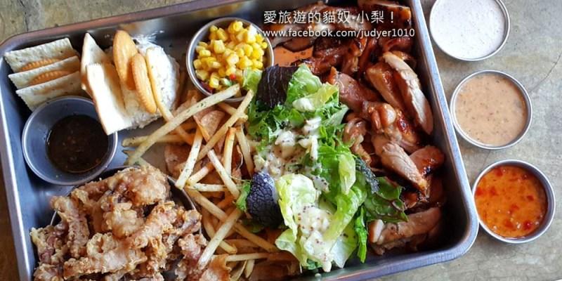 【韓國弘大美食】上水站\MIES Container,在工地裡享用美食,超酷!巴BQ雞肉沙拉拼盤,絕對必點!