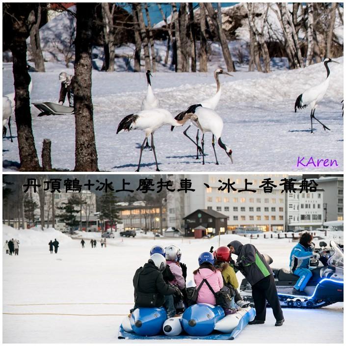 [日本。北海道] 丹頂鶴自然公園+阿寒湖畔冰上摩托車、冰上香蕉船