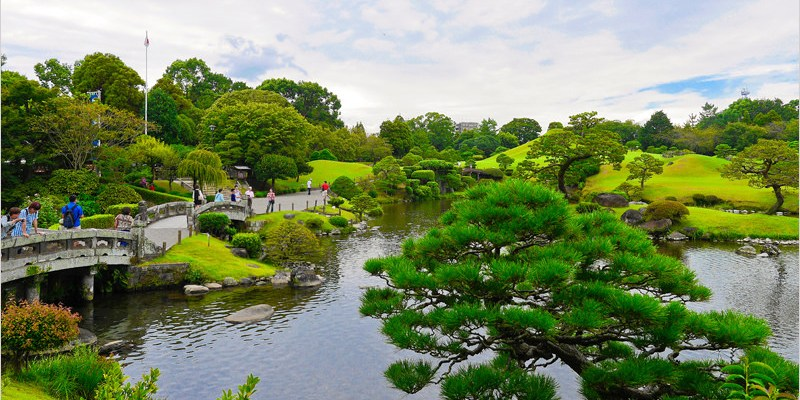 2016日本九州旅遊   水前寺成趣園。熊本縣的第一名園,桃山式池泉迴遊庭園,好山好水的美景散步超悠閒。