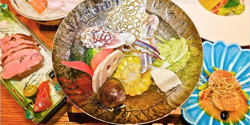 澤山壽司   台中南屯日式料理。推薦無菜單料理套餐 $1280,嚴選新鮮食材,伊比利豬、花蟹、北海道干貝、道道鮮美好吃。