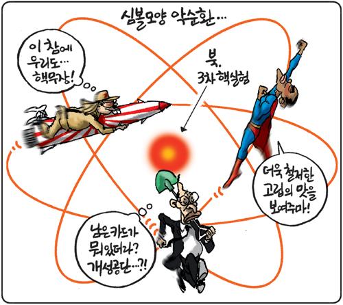 경향신문 2월 13일자(온라인 2월12일) 김용민 만평