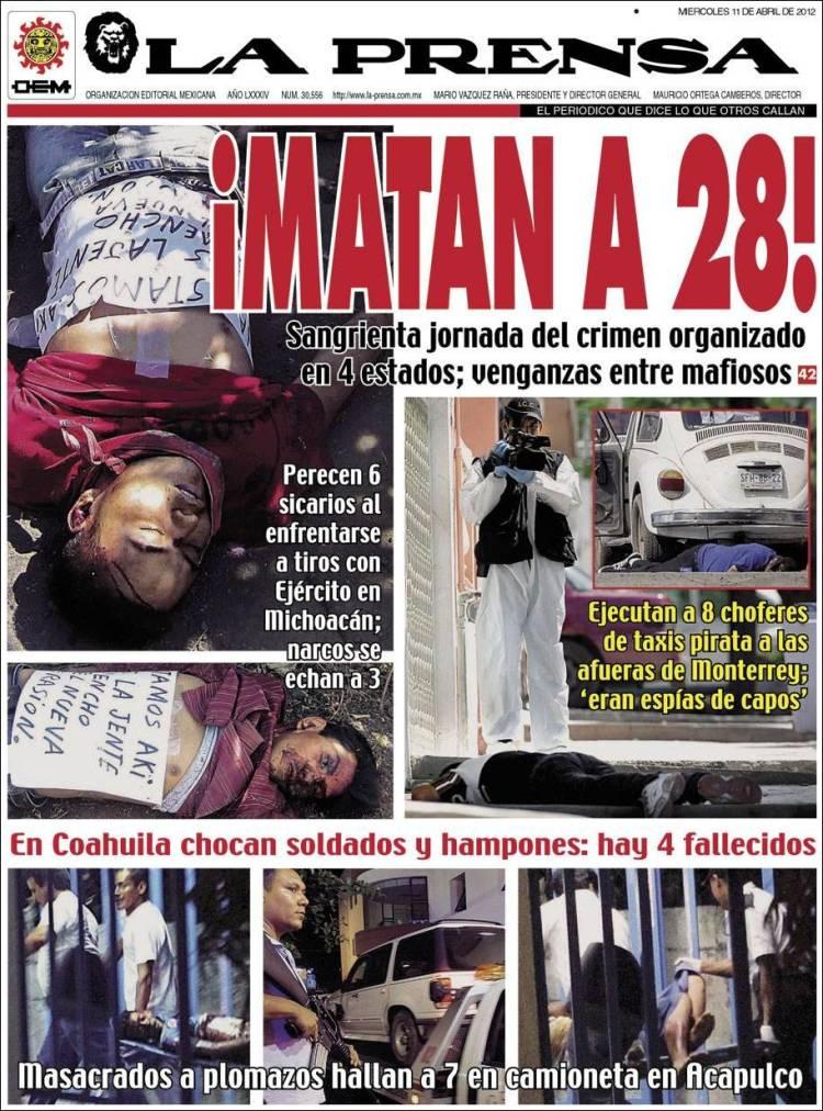 Portada de La Prensa (México)
