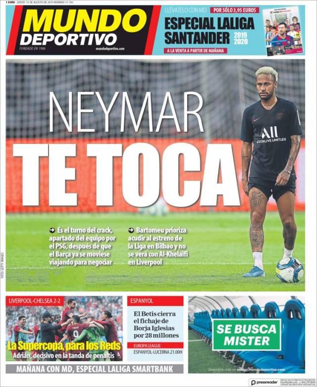 Portada del Mundo Deportivo (España)