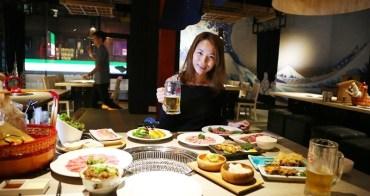 【台中北區】氣勢磅礡的設計裝潢搭配日式燒肉和串燒,餐飲燒肉新品登場~山鯨燒肉