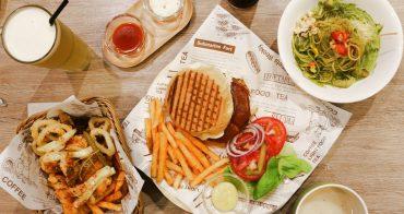 新莊美食 345美式複合式餐廳 商業午餐朋友聚餐場所 濃郁青醬好對味 捷運新莊站美食