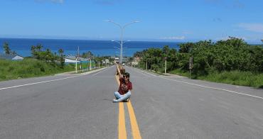 台東太麻里火車站 筆直通往大海的一條美麗道路