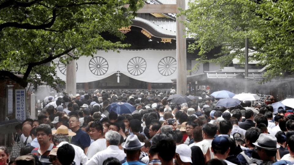 Japanese war dead memorial service online while coronavirus is widespread