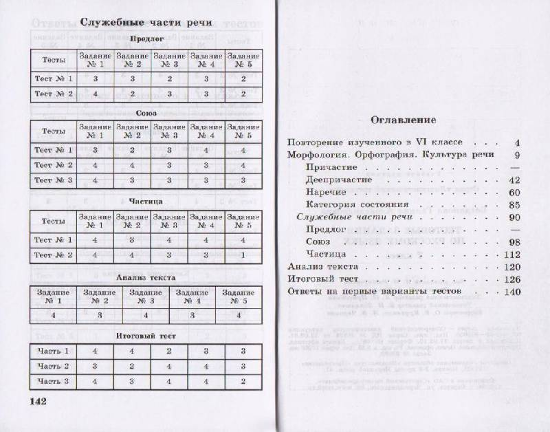 Тестовая контрольная работа за 1 полугодие 5 класс русский язык львов