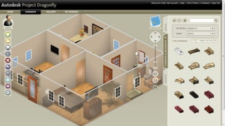 Online 3D Home Design Software from AutoDesk   Create Floor Plans     3d perspective view