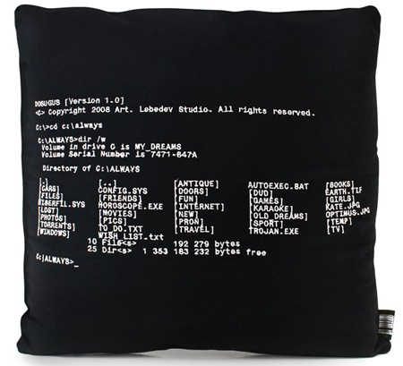 dos command pillow