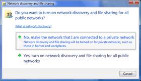 2. Turn Off File Sharing for Public Networks