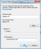 3. Assign Workgroup Name