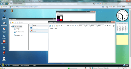 windows desktop in the browser