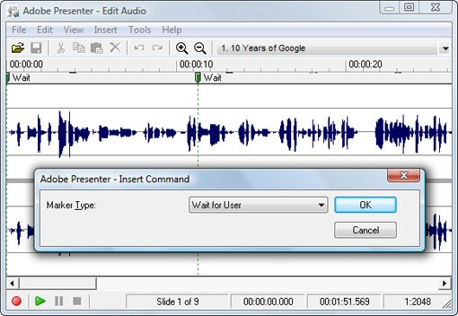 adobe presenter audio editor