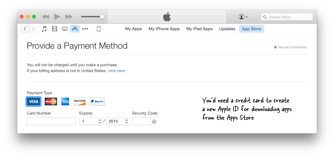 Apple ID for US iTunes Store